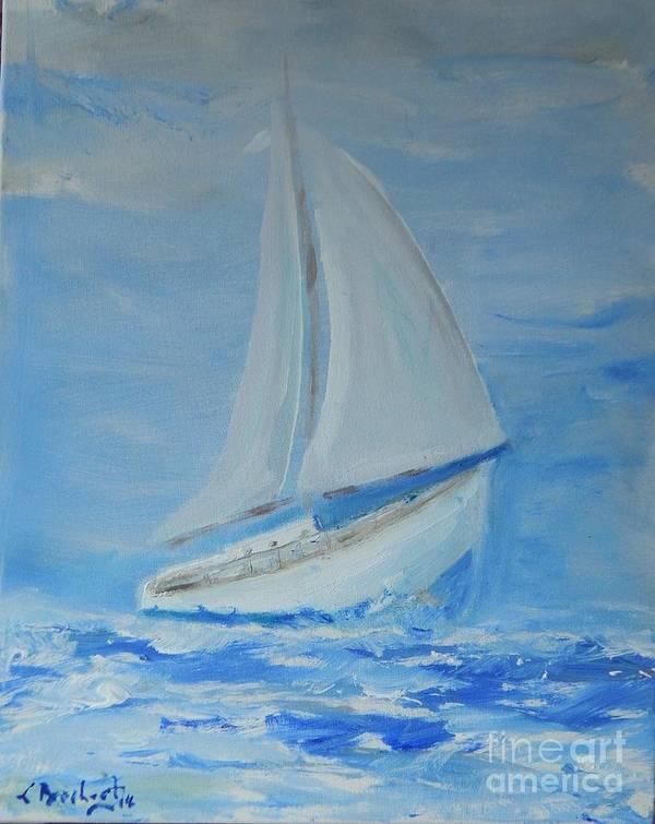 Modern Poster featuring the painting First Sail by Lorenz Brochert