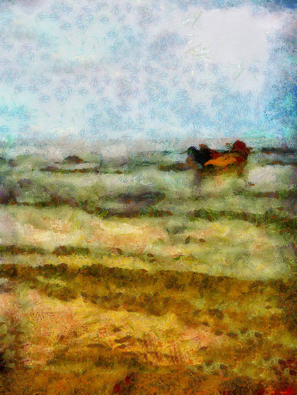 Abstract Poster featuring the photograph Fishing Boat by Galeria Trompiz