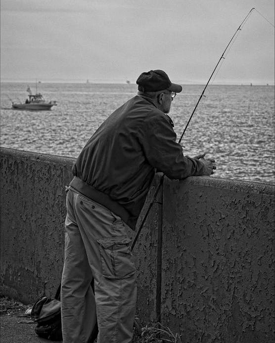 Fishing Poster featuring the photograph Fishing by Robert Ullmann