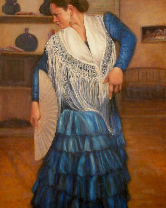 Realism Poster featuring the painting Flamenco 2 by Donelli DiMaria