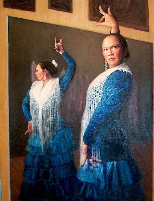Realism Poster featuring the painting Flamenco 3 by Donelli DiMaria