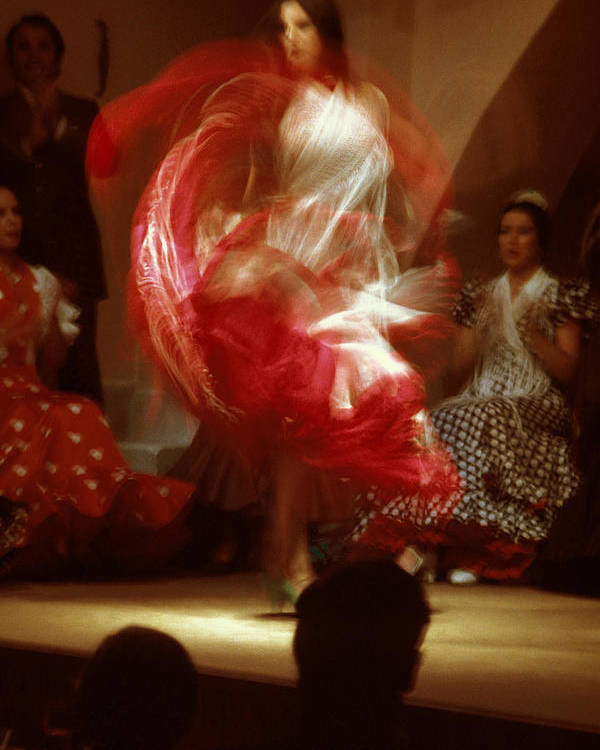 Spain Poster featuring the photograph Flamenco Dancer In Seville by Carl Purcell
