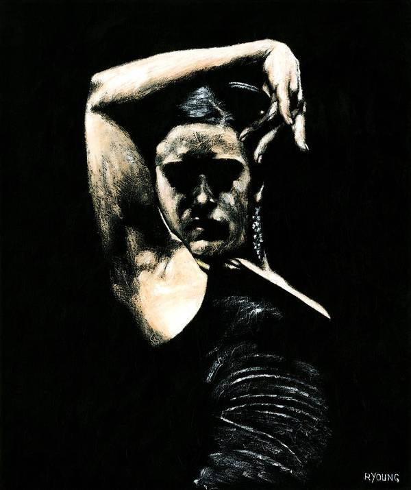 Fanny Ara Poster featuring the painting Flamenco Soul by Richard Young