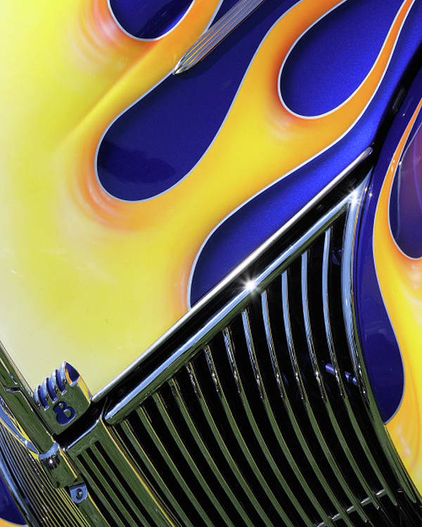 Classic Car Poster featuring the photograph Flames by Rebecca Cozart