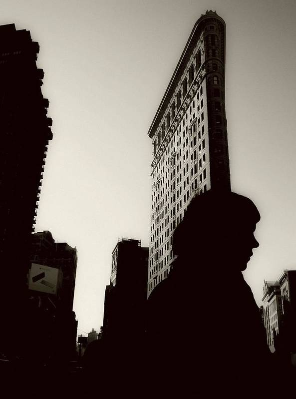 New York Poster featuring the photograph Flat Iron Shadows by Jeff Watts