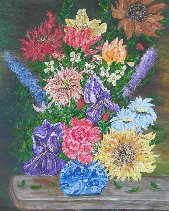 Floral Poster featuring the painting Flemish Floral by Mikki Alhart