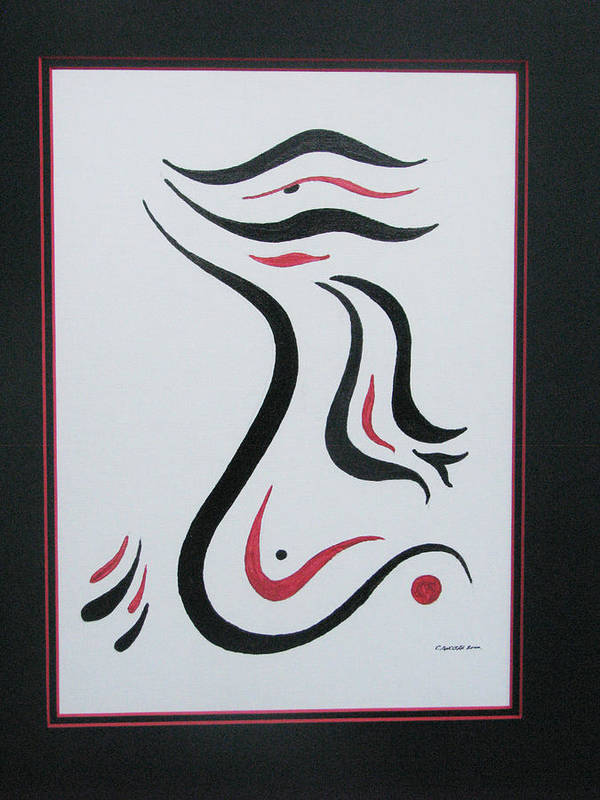 Abstract Free Form Poster featuring the painting Flight To Freedom II by Craig Lechman
