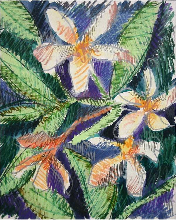 Flower Poster featuring the painting Flora Exotica by Dodd Holsapple