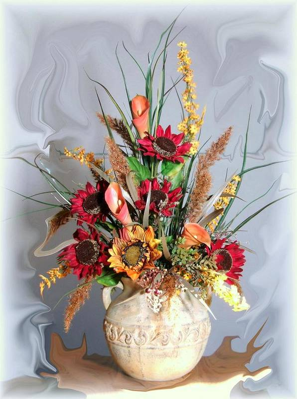 Floral Poster featuring the photograph Floral Arrangement by Jim Darnall