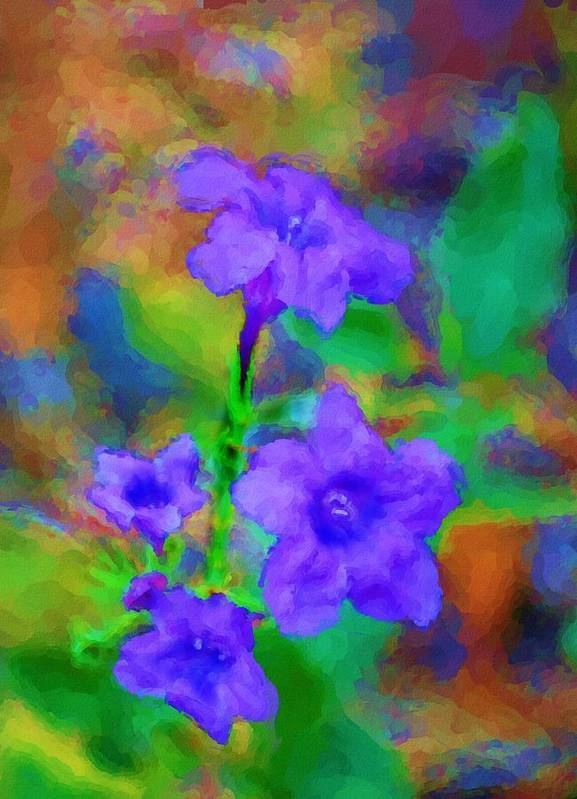 Fine Art Poster featuring the digital art Floral Expression by David Lane