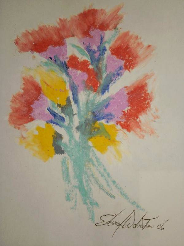 Floral Poster featuring the pastel Floral Study In Pastels X by Edward Wolverton