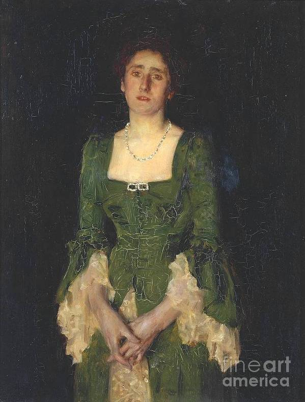 Henry Scott Tuke Poster featuring the painting Florence Humphris by MotionAge Designs