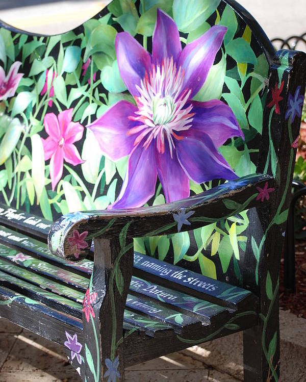 Macro Poster featuring the photograph Flower Bench by Rob Hans
