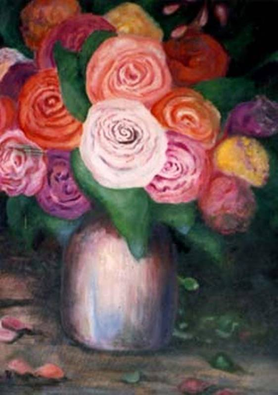 Flowers Poster featuring the painting Flower Spirals by Jordana Sands