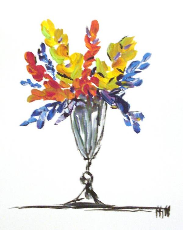 Flowers Poster featuring the painting Flowers Clear by Kimberly Hill
