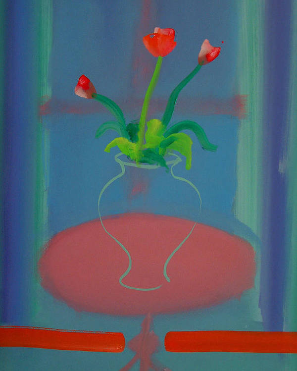 Dufy Poster featuring the painting Flowers In A Bay Window by Charles Stuart