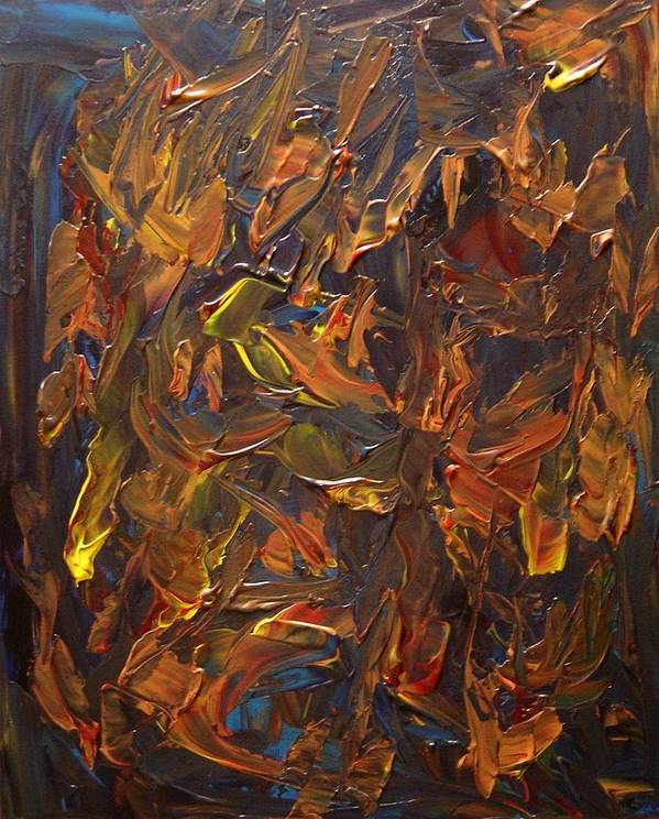 Abstract Poster featuring the painting Focused And Fuming by Karen L Christophersen