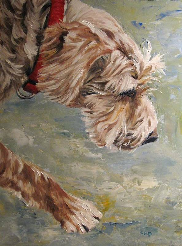 Dog Poster featuring the painting Follow Your Nose by Cheryl Pass