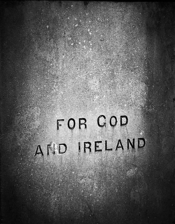Irish Poster featuring the photograph For God and Ireland Macroom Ireland by Teresa Mucha