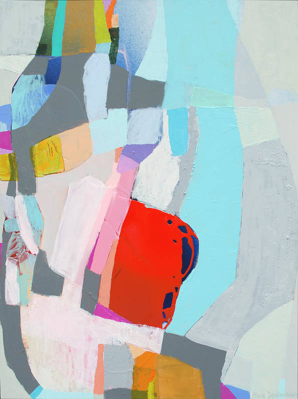 Abstract Poster featuring the painting For What You Are by Claire Desjardins
