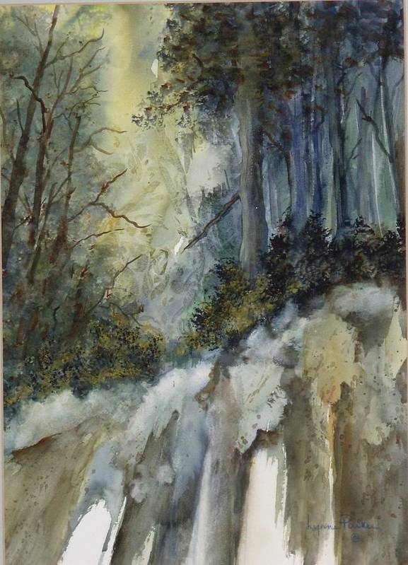 Secenic Forest Poster featuring the painting Forest Unknown by Lynne Parker