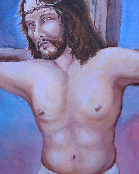 Jesus Poster featuring the painting Forgive Them Father by Paul Choate