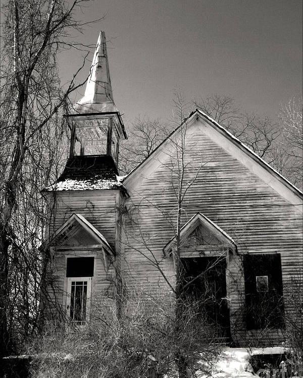 Church Poster featuring the photograph Forsaken by Debra Straub