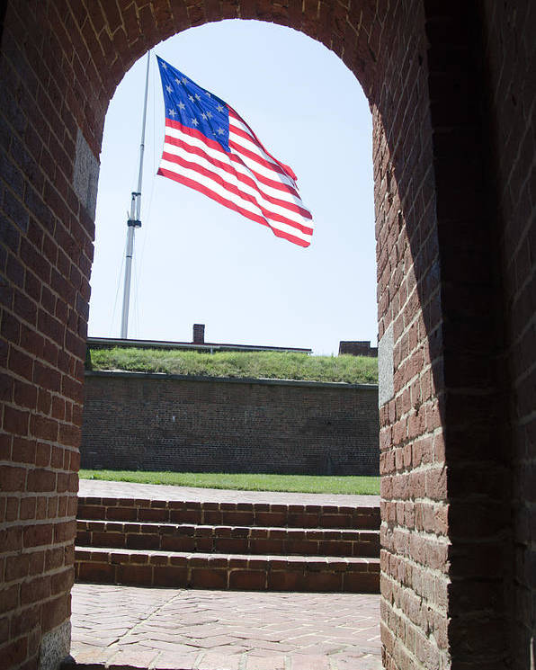 Fort Poster featuring the photograph Fort Mchenry Star Spangled Banner by Bill Cannon