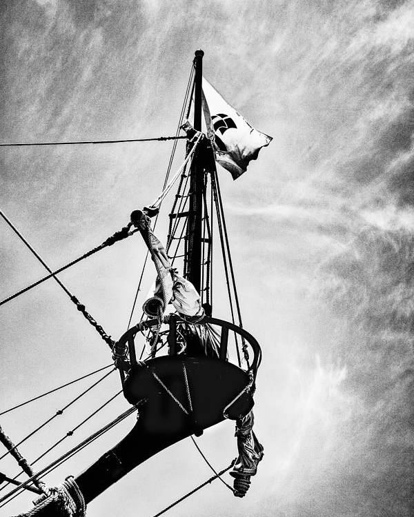 Boats Poster featuring the photograph Forward Crow's Nest by Karen Hanley Colbert