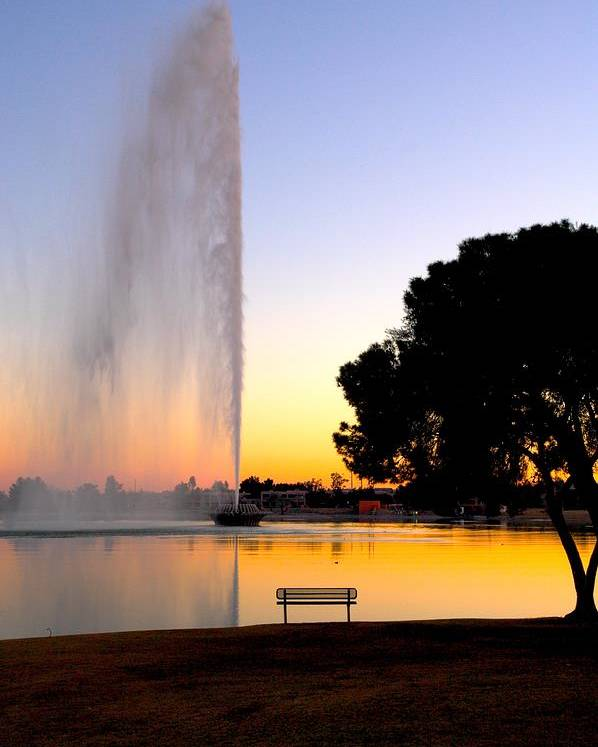 Fountain Hills Poster featuring the photograph Fountain Hills by Paul Kloschinsky
