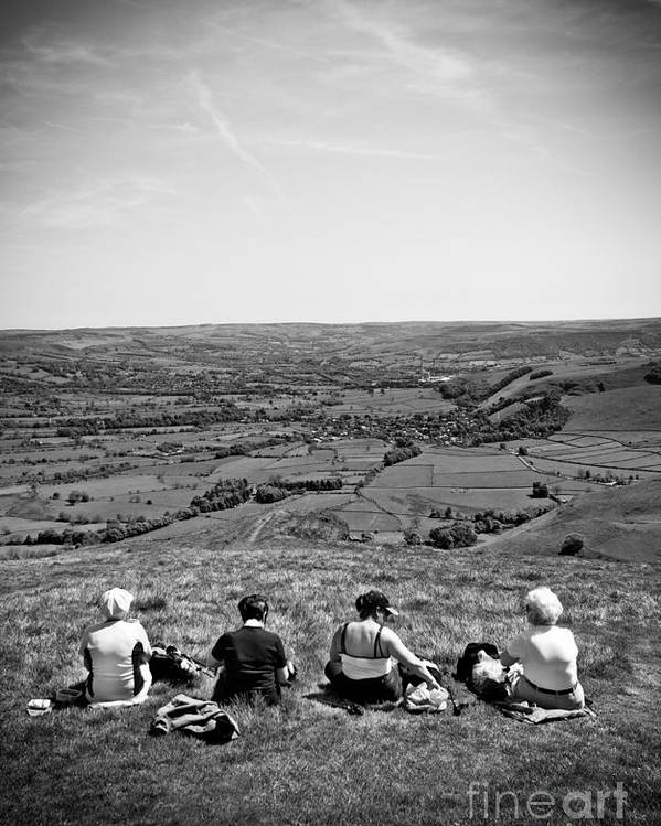 Derbyshire Poster featuring the photograph Four Ladies On A Hill by Meirion Matthias