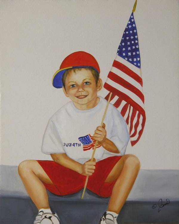 Holiday Poster featuring the painting Fourth Of July by Joni McPherson
