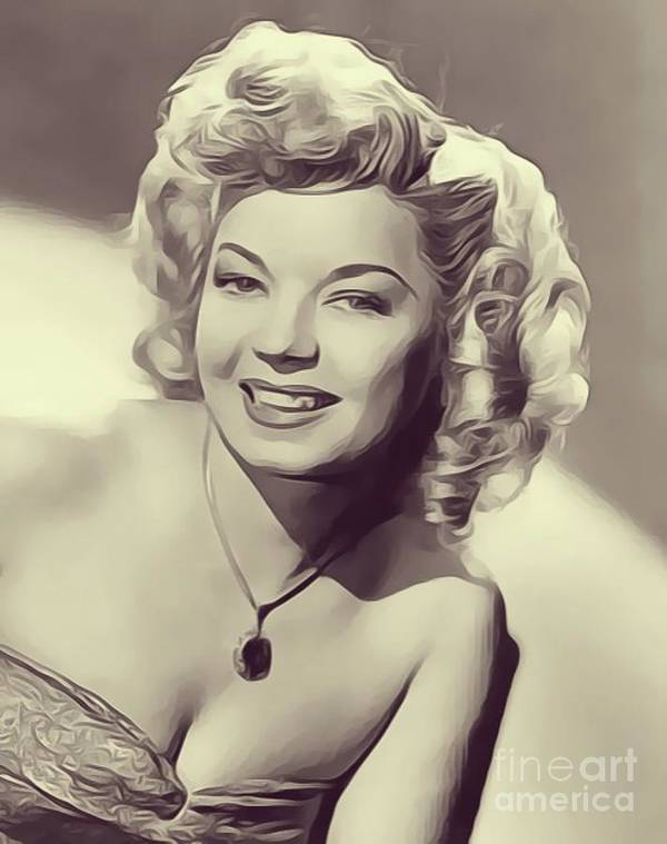 Frances Poster featuring the digital art Frances Langford, Vintage Actress by John Springfield
