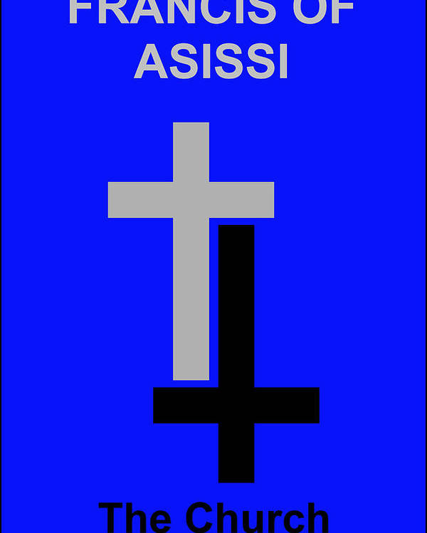Francis Of Asissi Poster featuring the digital art Francis Of Asissi by Asbjorn Lonvig