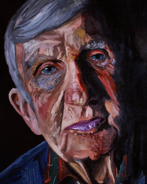 Portrait Poster featuring the painting Frank1 by Keith O Rahilly