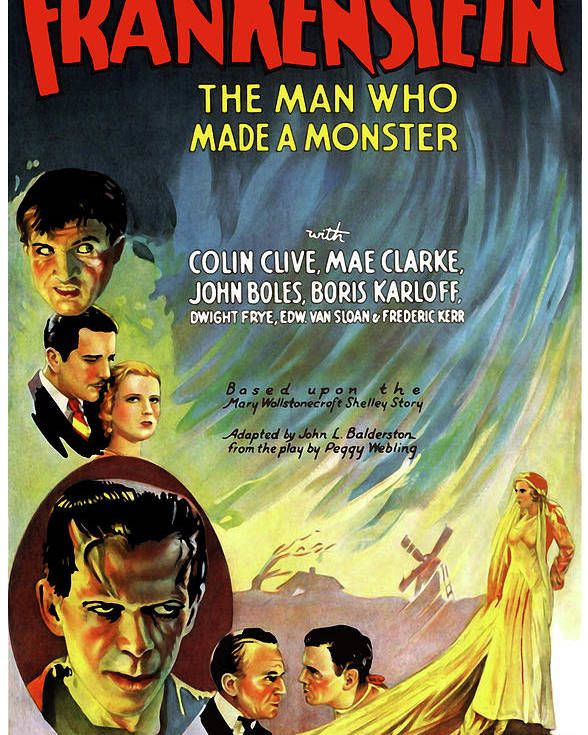Frankenstein Movie Poster 1931 Finest Quality Many Sizes Available
