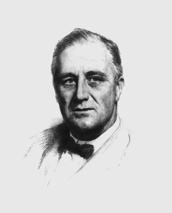 Franklin Roosevelt Poster featuring the painting Franklin Roosevelt by War Is Hell Store