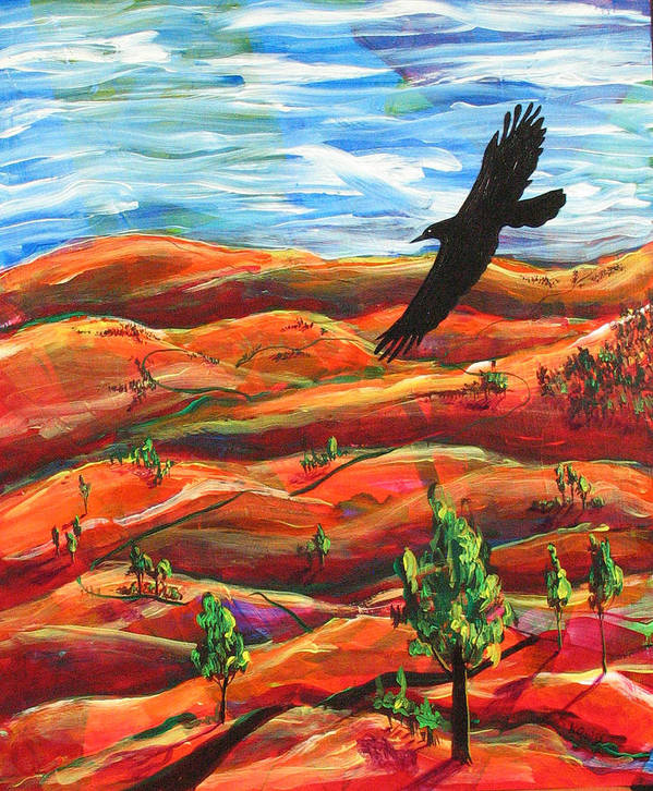 Bird Poster featuring the painting Free As A Bird by Rollin Kocsis