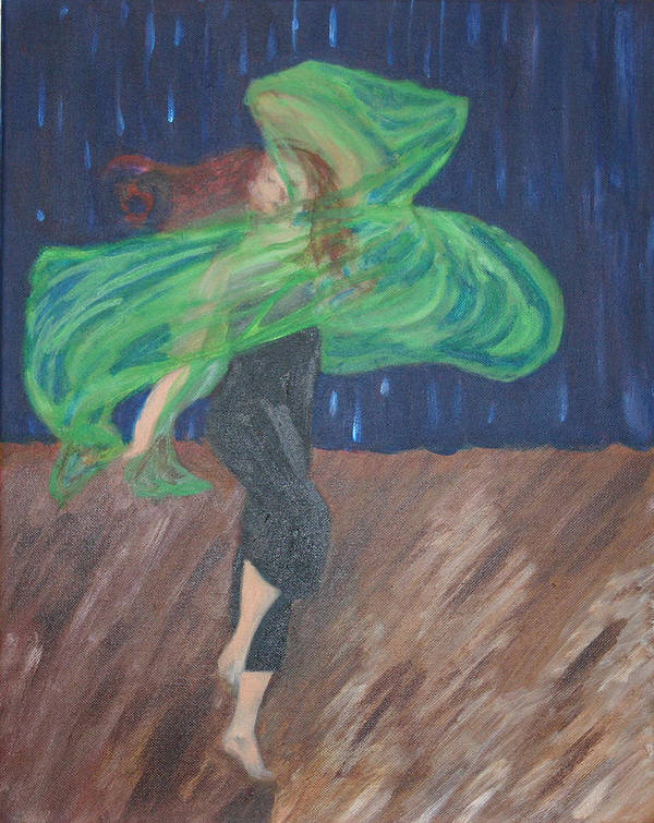 Dancer Poster featuring the painting Free Spirit IIi by Cassandra Allen