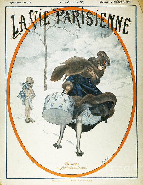 1921 Poster featuring the painting French Magazine Cover by Granger