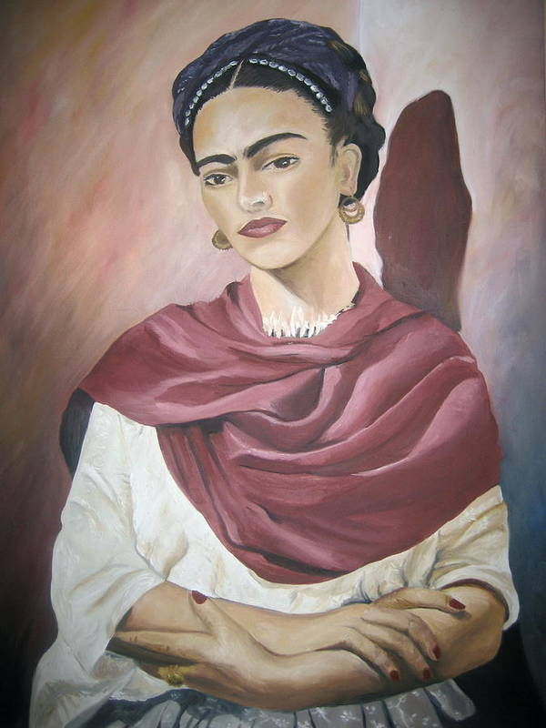 Frida Poster featuring the painting Frida by Jessica De la Torre
