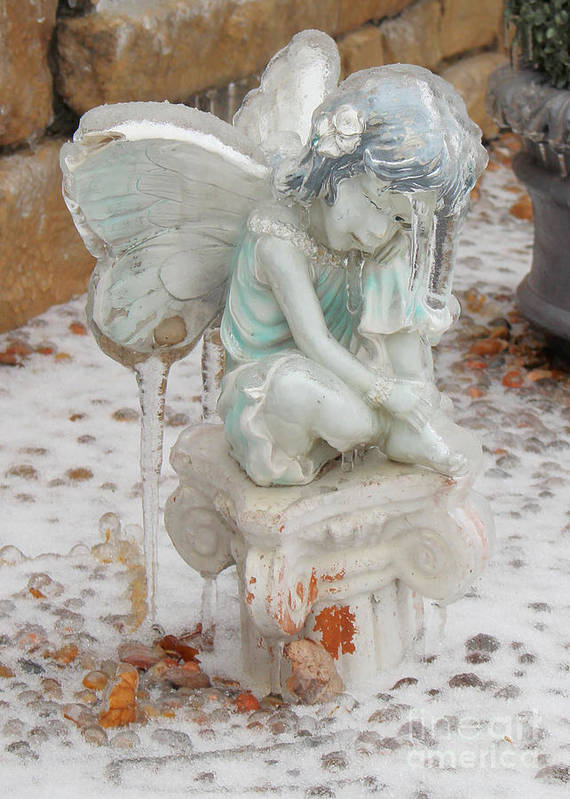 Fairy Poster featuring the photograph Frozen Fairy by Brenda Ackerman