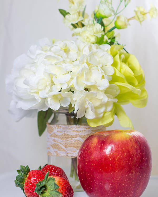 Fruit Poster featuring the photograph Fruits And Flowers by Hyuntae Kim