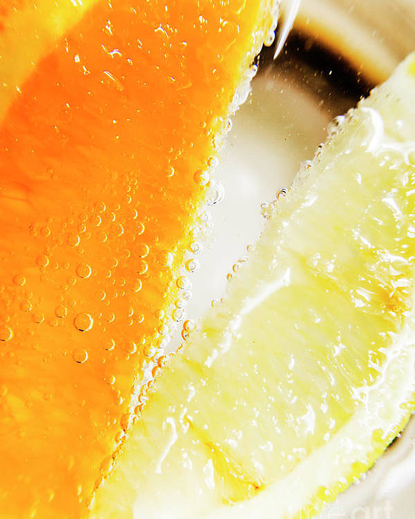 Slice Poster featuring the photograph Fruity Drinks Macro by Jorgo Photography - Wall Art Gallery