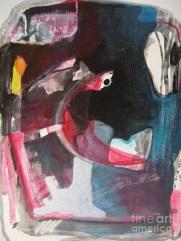Abstract Paintings Paintings Abstract Art Paintings Poster featuring the painting Fumbling With Memory by Seon-Jeong Kim