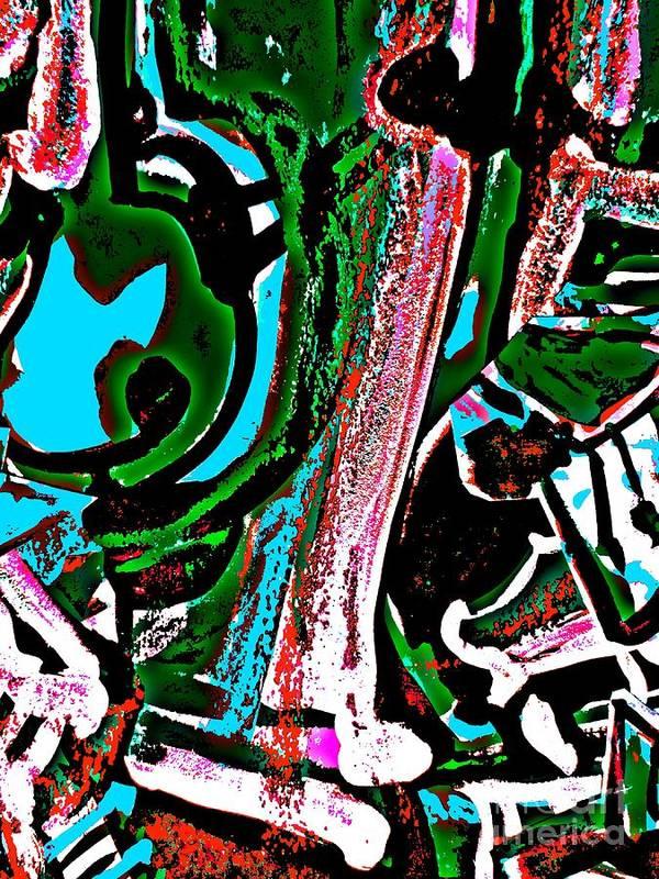 Katerina Stamatelos Poster featuring the painting Funky Pop-12 by Katerina Stamatelos