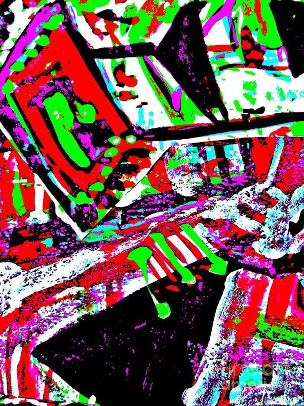Katerina Stamatelos Poster featuring the painting Funky Pop-9 by Katerina Stamatelos