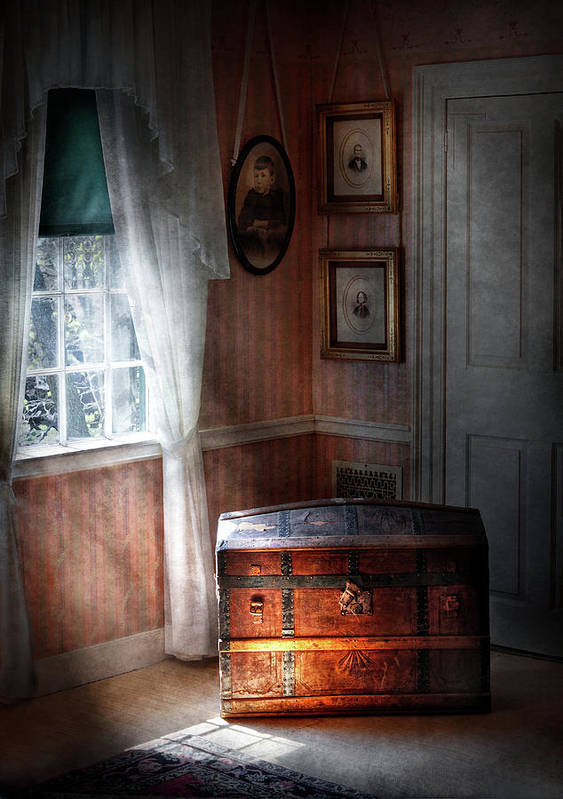 Hdr Poster featuring the photograph Furniture - Bedroom - Family Secrets by Mike Savad