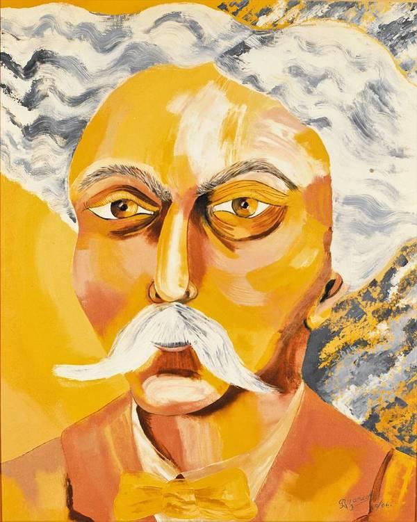 Gabriel Faure Portrait Poster featuring the painting Gabriel Faure Portrait by Preciada Azancot