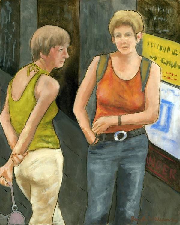 Figurative Poster featuring the painting Galway Afternoon by Brenda Williams